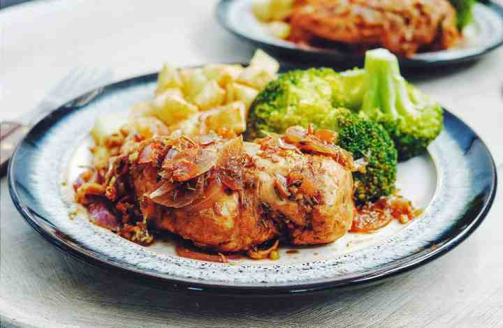 Delicious Low Fat Chicken Fricassee Recipe – Serves 4