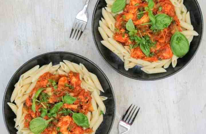 Slimming World Syn Free Roasted Tomato & Chicken Pasta for 2