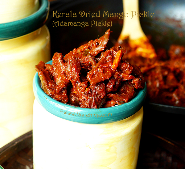 Ada Manga Pickle (Kerala Dried Mango Pickle)
