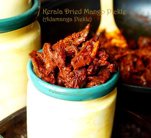 Ada Manga Pickle (Kerala Dried Mango Pickle)