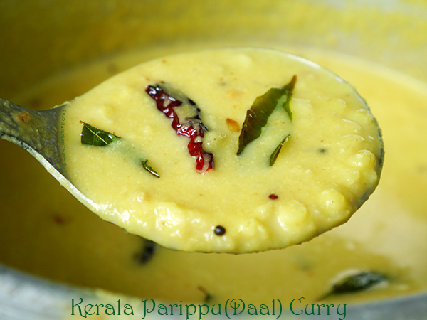 Kerala Parippu/Daal Curry (Onam/Vishu Sadya Parippu Curry)