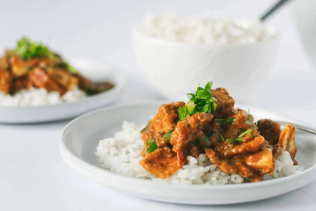 The best Tofu Tikka Masala - a classic veganized
