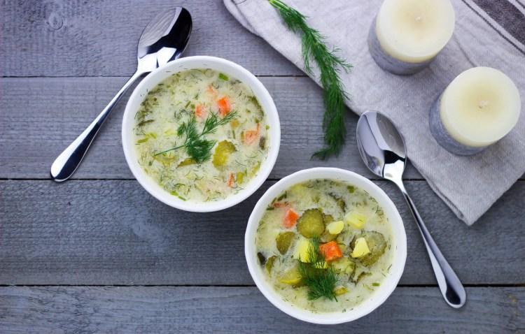 Polish Cucumber Soup - a classic veganized