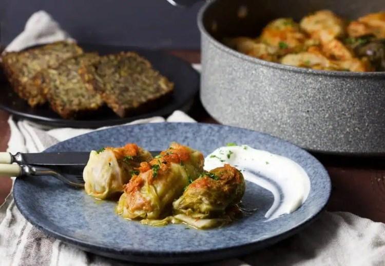 Stuffed cabbage rolls (golabki, holubki, töltött káposzta) perfect as a healthy and satisfying summer meal for your family