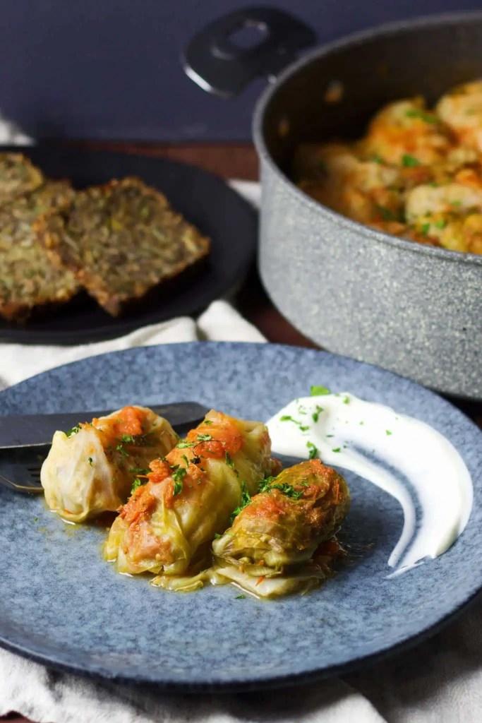 Stuffed cabbage rolls (golabki, holubki, töltött káposzta)
