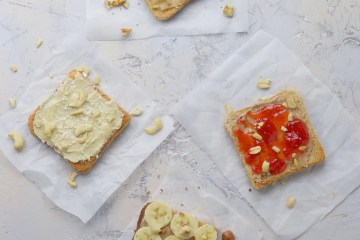 4 pumped up nut butter toasts