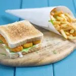 Fish fingers sandwich with 2 minute tartare sauce 1