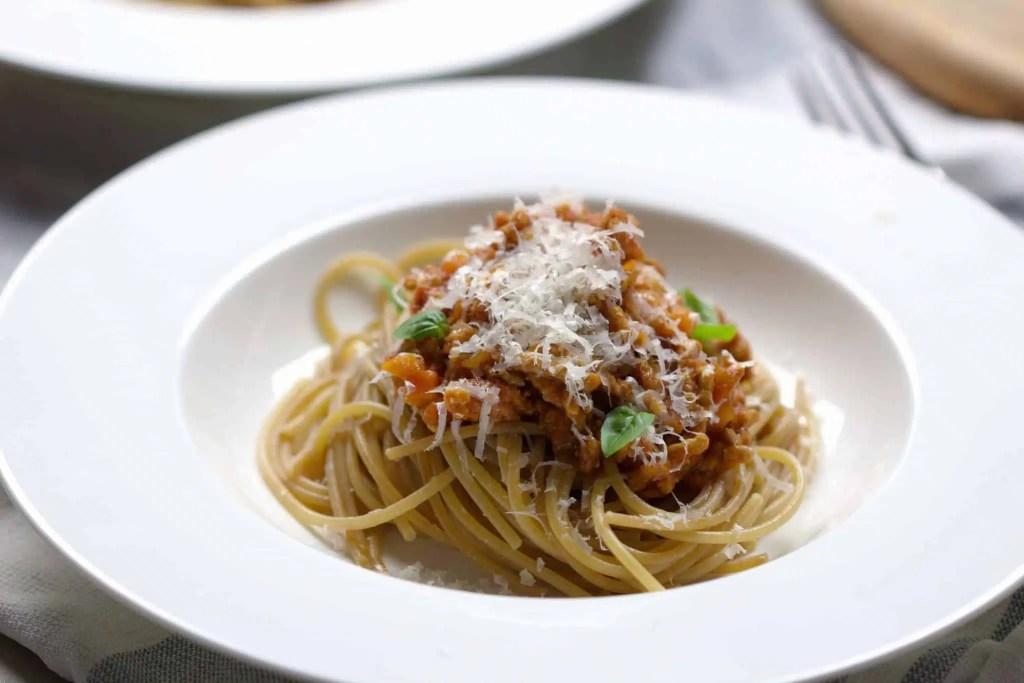 Easy homemade Bolognese sauce