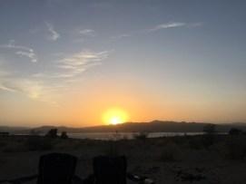 Sunset on Lake Alamo, AZ