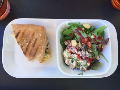 1/2 panini & salad...