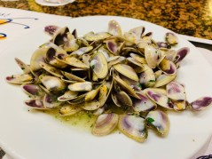 Baby Clams with White Wine Garlic and Herbs at Cal Pep in Barcelona Spain