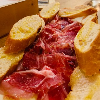 Jamon Iberico at Bodega Maestrazgo in Barclona Spain