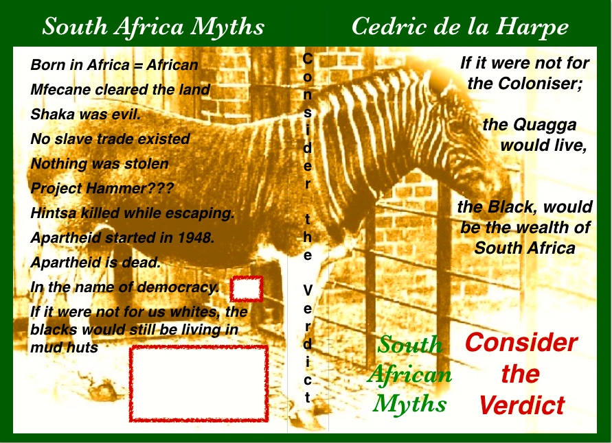 Reflections on South Africa history, extracts from Consider the Verdict.