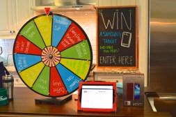 prize wheel drawing entry table