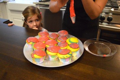 This little gal can't wait to get her hands on a tye-dye cupcake, fresh from out KitchenAid oven.