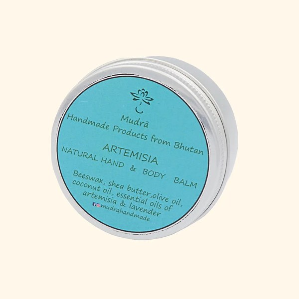 natural artemisia hand and body balm by Mudra 2