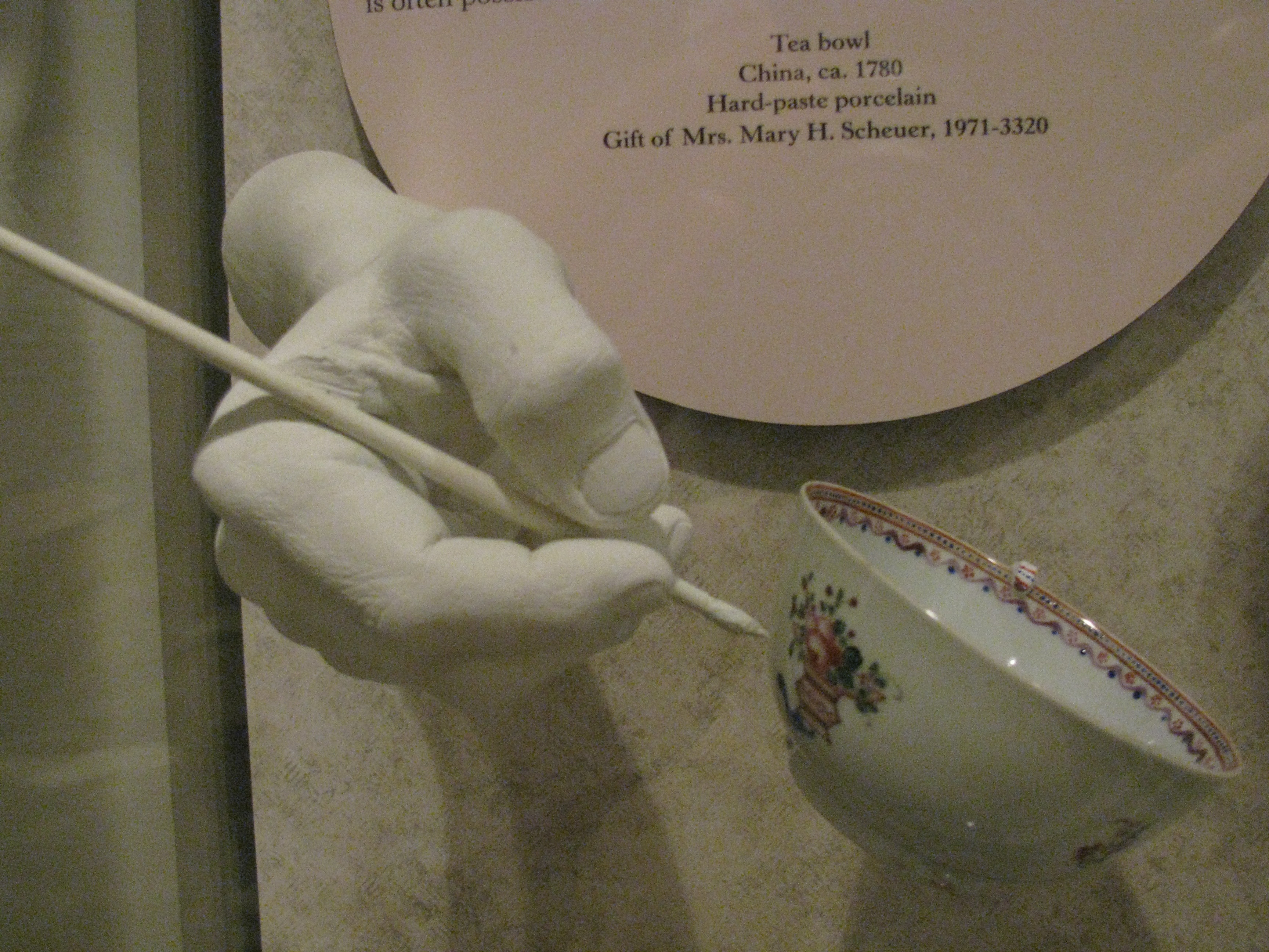 Photo of Porcelain Cup Taken at Dewitt Wallace Museum
