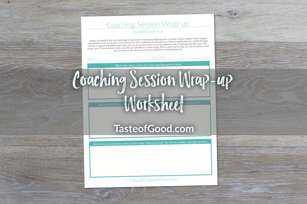 Coaching Session Wrap Up Worksheet