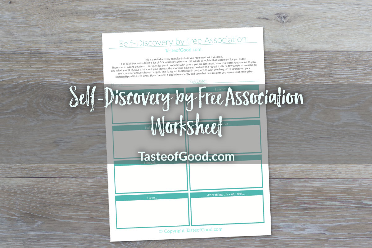 Self Discovery Worksheet