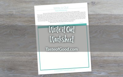 Write it Out Worksheet