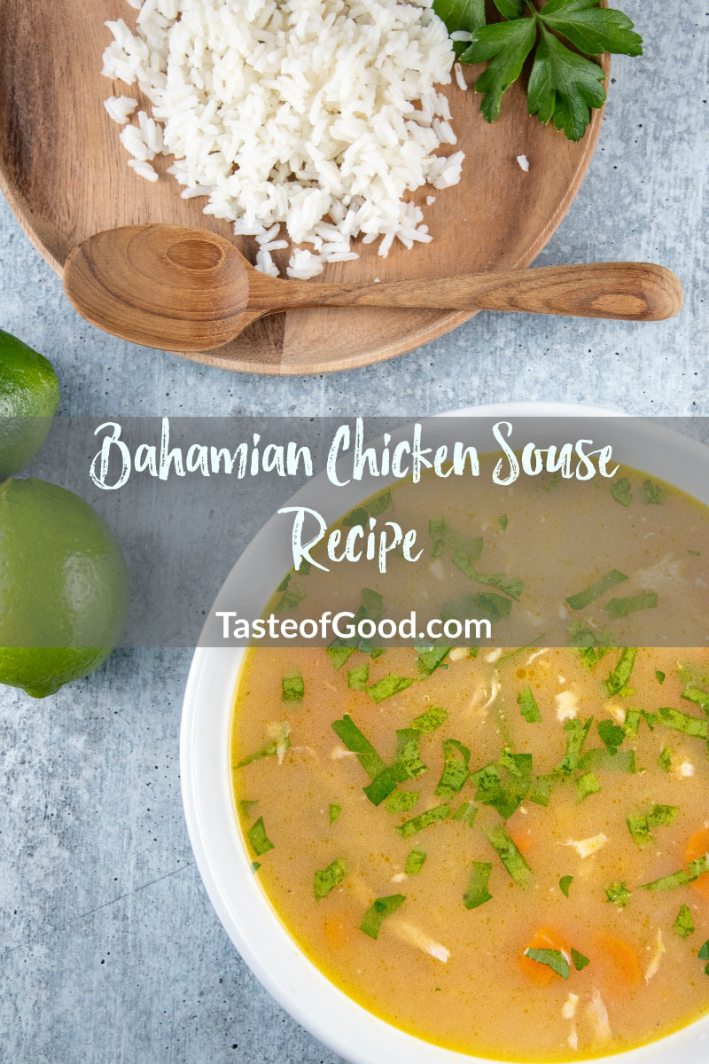Bahamian Chicken Souse Recipe, it is a spicy chicken soup from the Bahamas