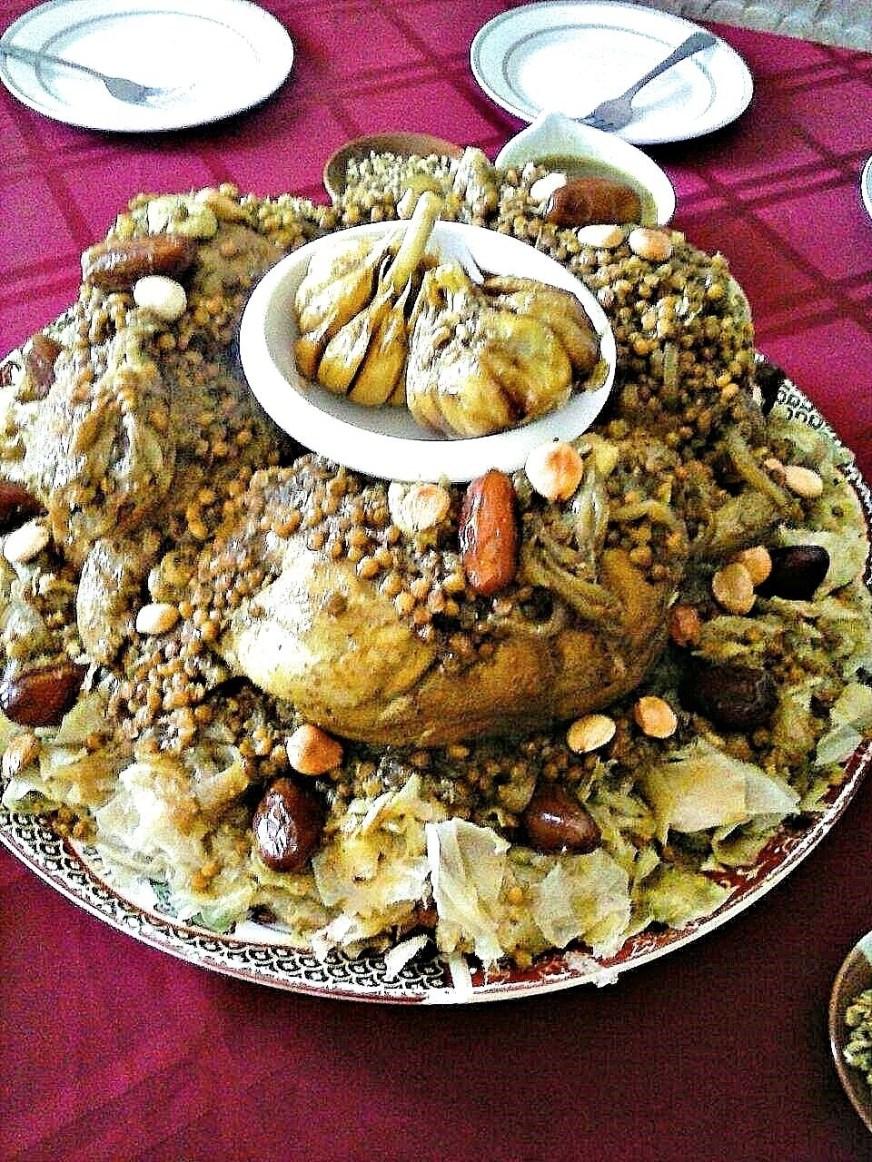 Moroccan Bormache Recipe - Meknes Style Rfissa - Taste of ...