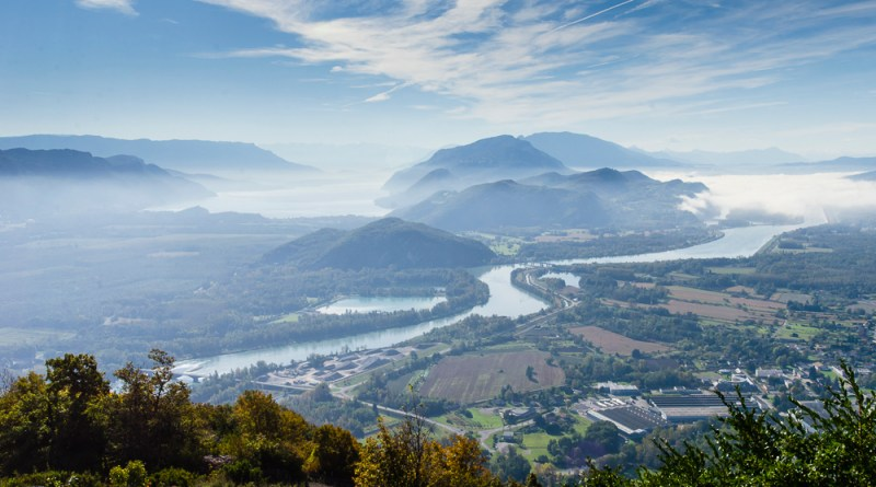 View on the way up Col du Colombier - as featured on the cover of the Bugey Sud Official Tourisme brochure 2014