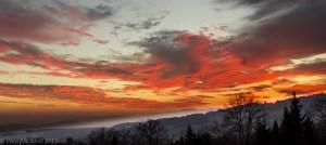 Sunset over Cernex