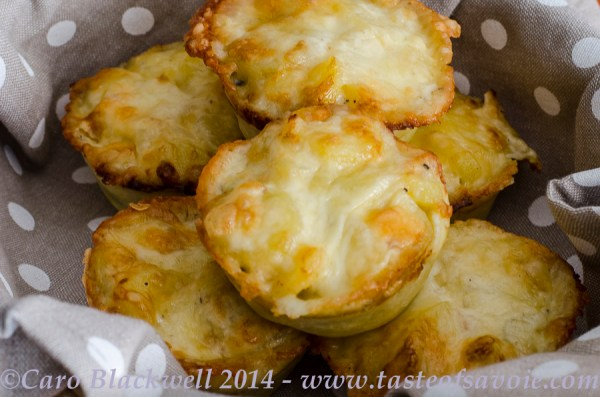 Dauphinoise and Tomme de Savoie Tartelettes