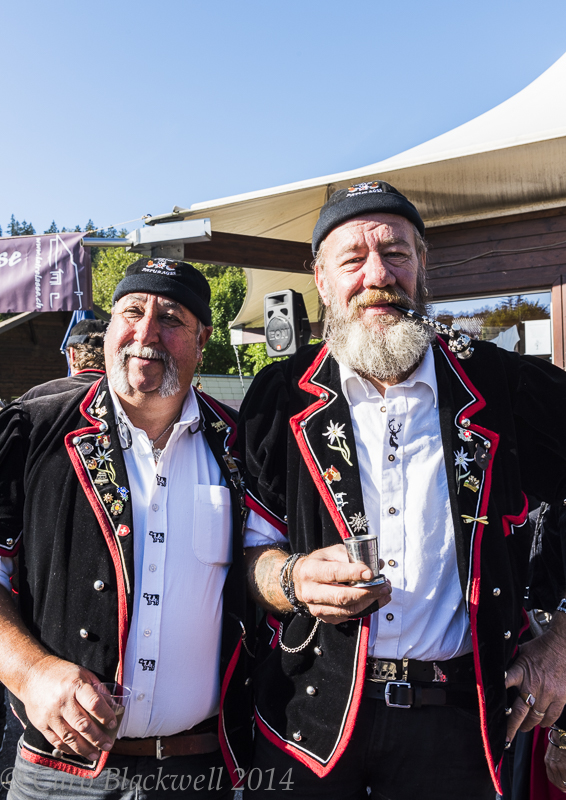 Traditionally dressed alphorn players