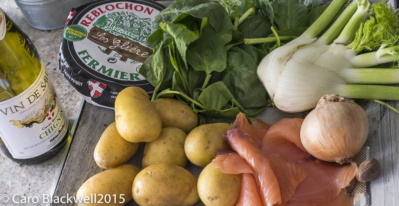 Ingredients for Smoked Salmon Tartiflette