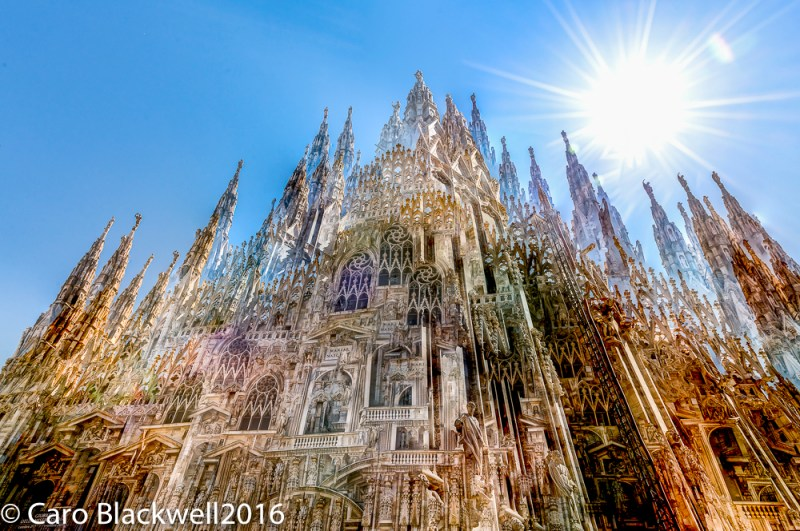 Looking up at Milan Cathedral - Duomo di Milano - in an abstract kind of way!