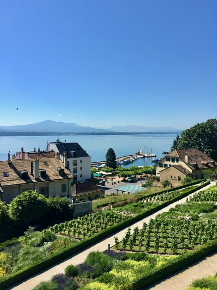 Looking over Lac Leman from Nyon our port of embarkation