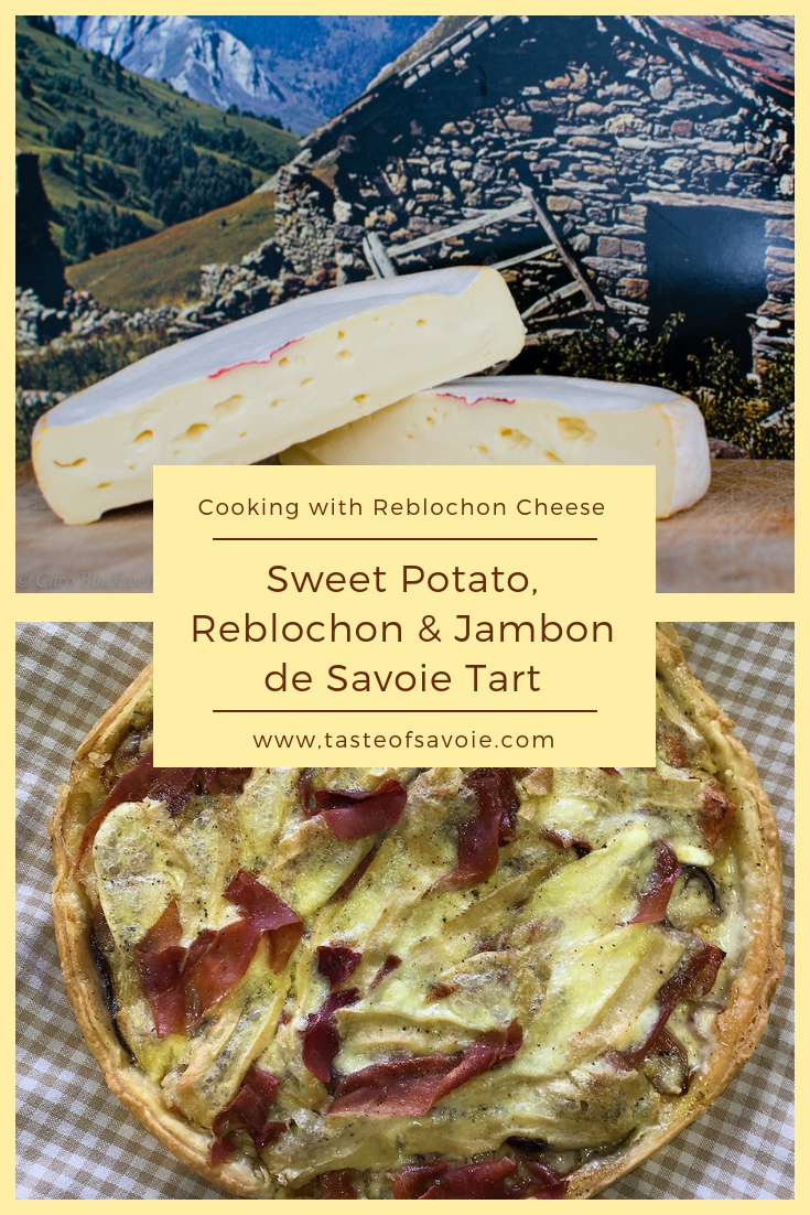 Sweet Potato and Reblochon Tart from The Taste of Savoie Kitchen