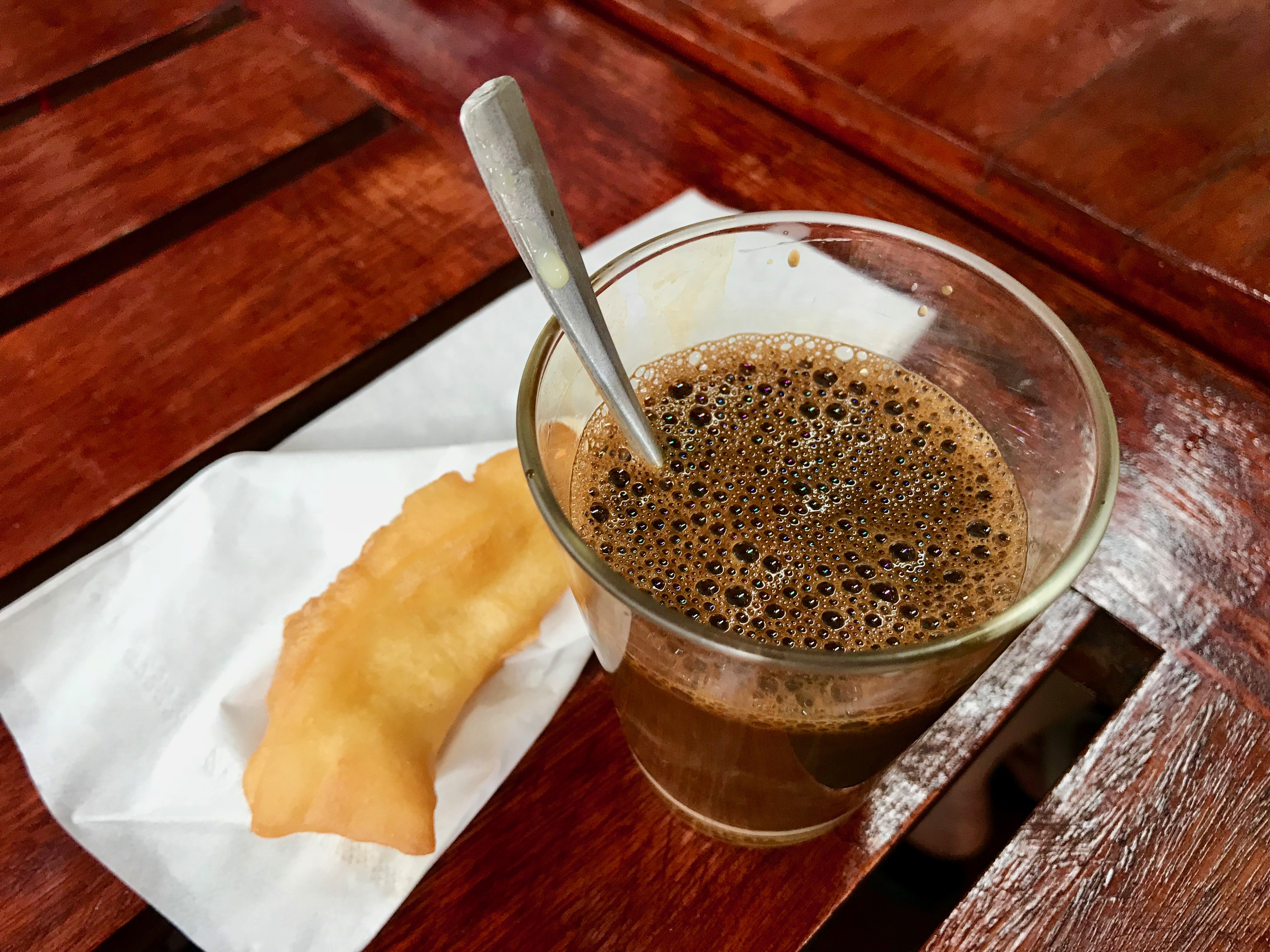 Chinese doughnuts to dunk in the delicious Thai coffee