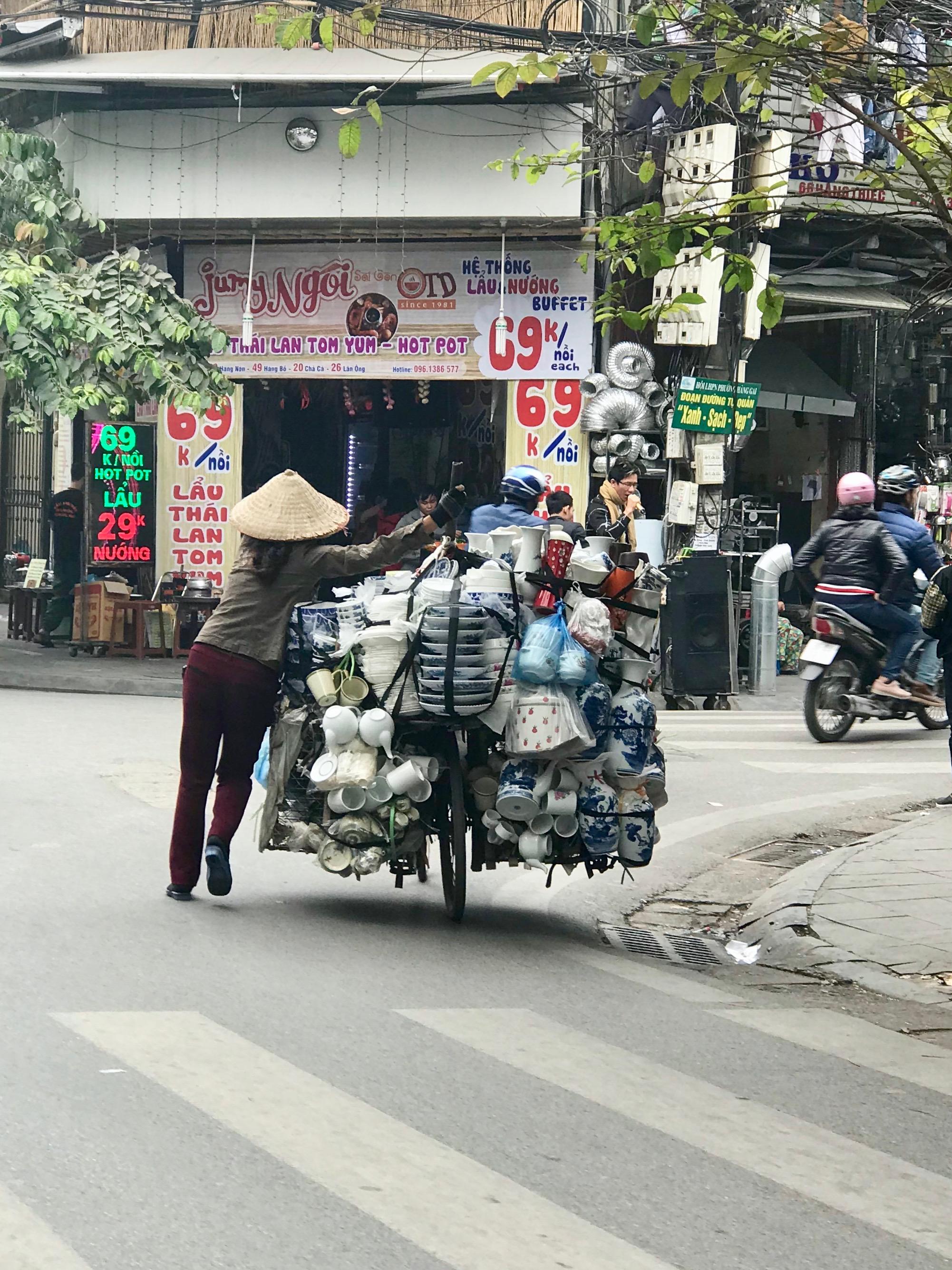 Street Vendor Bike in Old Hanoi