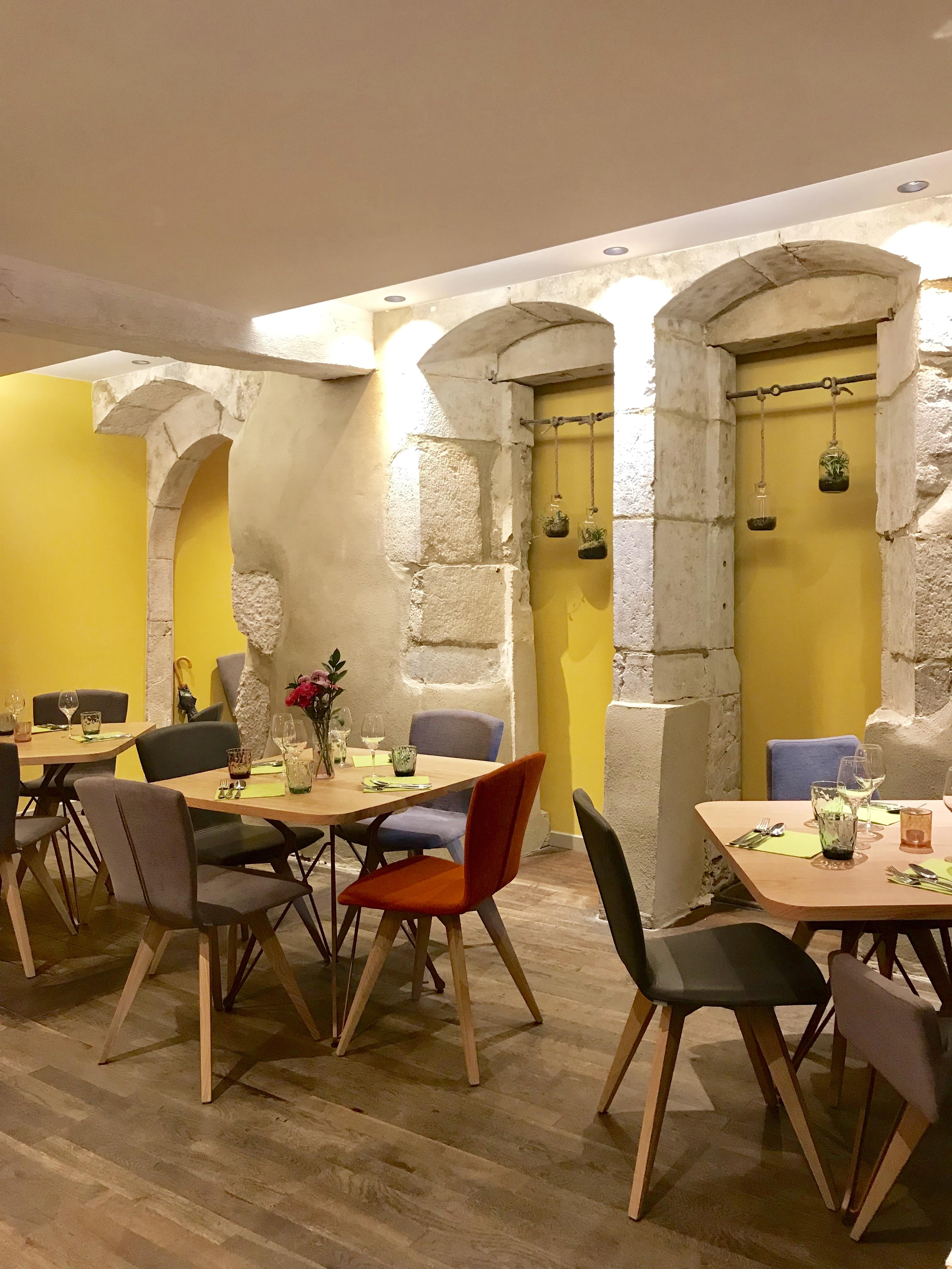 The interior at Aromatik Restaurant Annecy