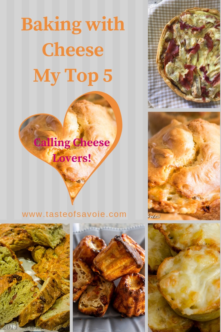Five recipes Baking with Cheese