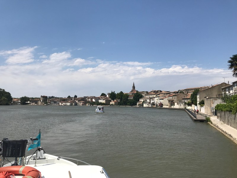 The Grand Bassin in Castelnaudary after coming through the 4 locks of St. Roch