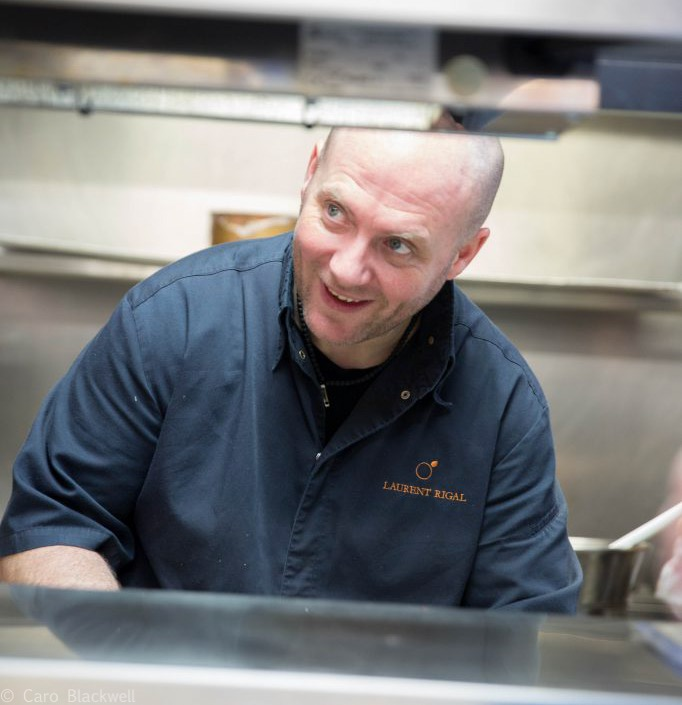 Chef Laurent Rigal - photo taken from the L'Alexandrin website
