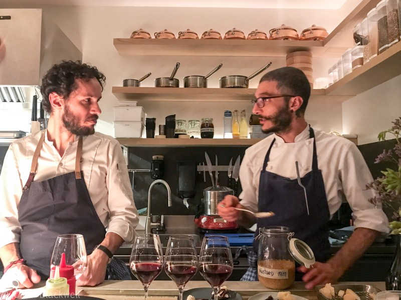 Chef Walter and chef Marco Ambrosino at Le Cinquieme Jour