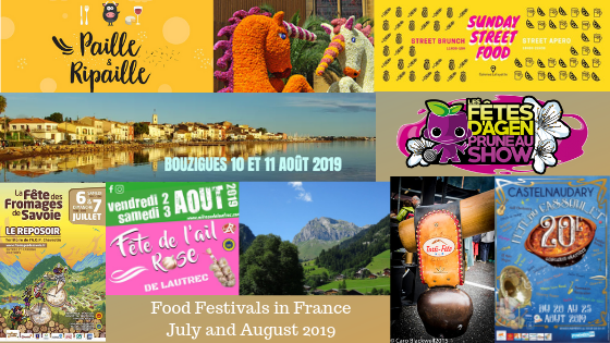 Food & Wine Festivals and Events in France in July & August 2019