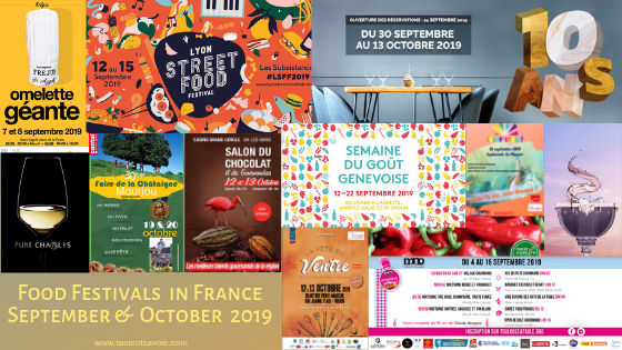 Food and Wine Festivals in France September and October 2019