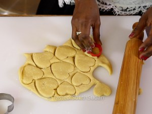 Sudanese Kahk - Sugar Coated Cookies, served with spiced tea. Christmas Cookies, Kahk el eid, Eid Cookies, Middle Eastern Dessert. Taste of South Sudan.