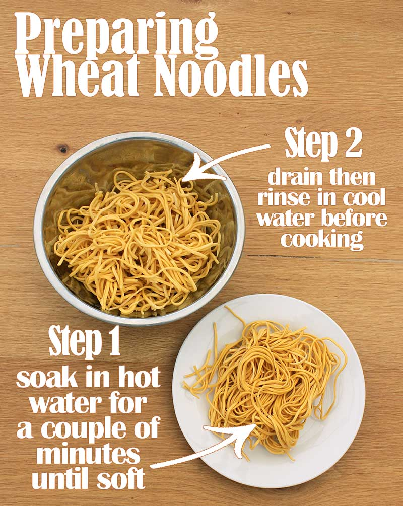 how to cook wheat noodles - infographic