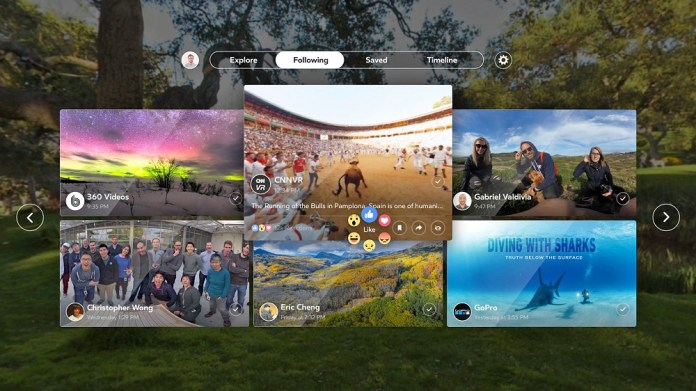 Facebook 360 aplikacija