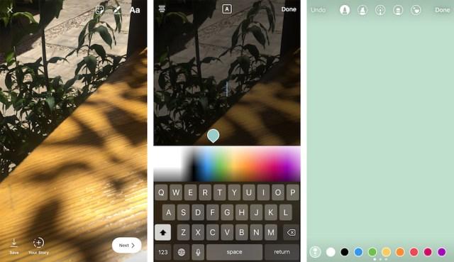Instagram Stories paleta boja