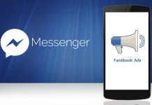 facebook messenger reklame