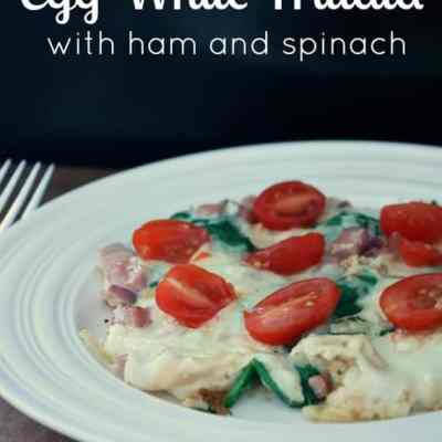 Egg White Frittata with Ham and Spinach