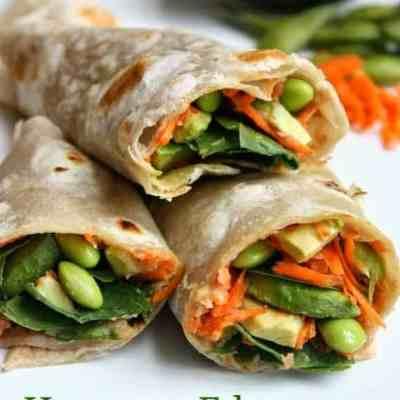 Hummus Edamame Veggie Wrap